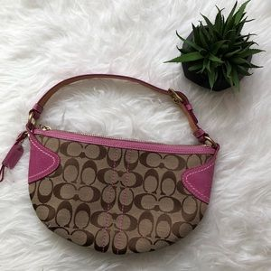 Authentic Coach Pink Over the Shoulder Bag